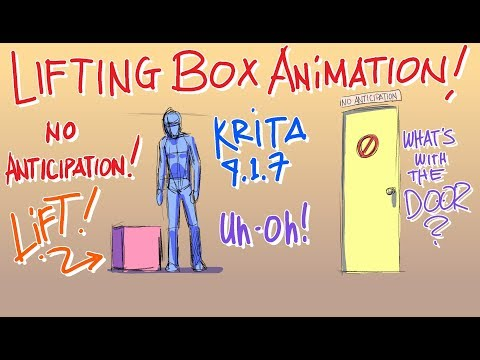 Daily Doodle - Lifting A Box Animation in Krita (No Inbetween)