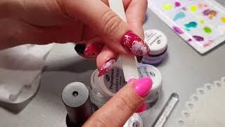 Очень простой и быстрый дизайн ногтей.