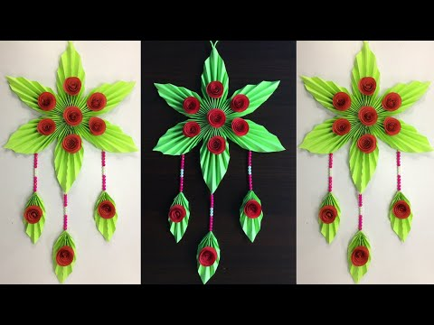 Paper Flowers Wall Decorations /  Simple Crafts / DIY Room Decorating Ideas / Wall Hanging crafts