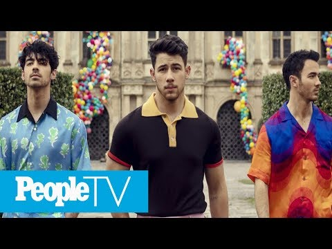 The Jonas Brothers Release New Song 'Sucker' & Music Video Stars All Their Leading Ladies | PeopleTV