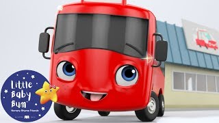 My Little Red Bus And The Carwash | Go Buster | Baby Songs | Learn with Little Baby Bum