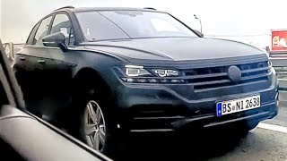 All new Touareg 2018? Exclusive test in Russia, Moscow