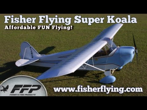 Fisher Flying Products, Super Koala ,All Wood, Experimental Aircraft Kit