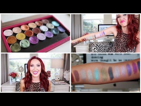 Makeup geek Foiled Eyeshadow - Review | Swatches | Jaclyn Hill