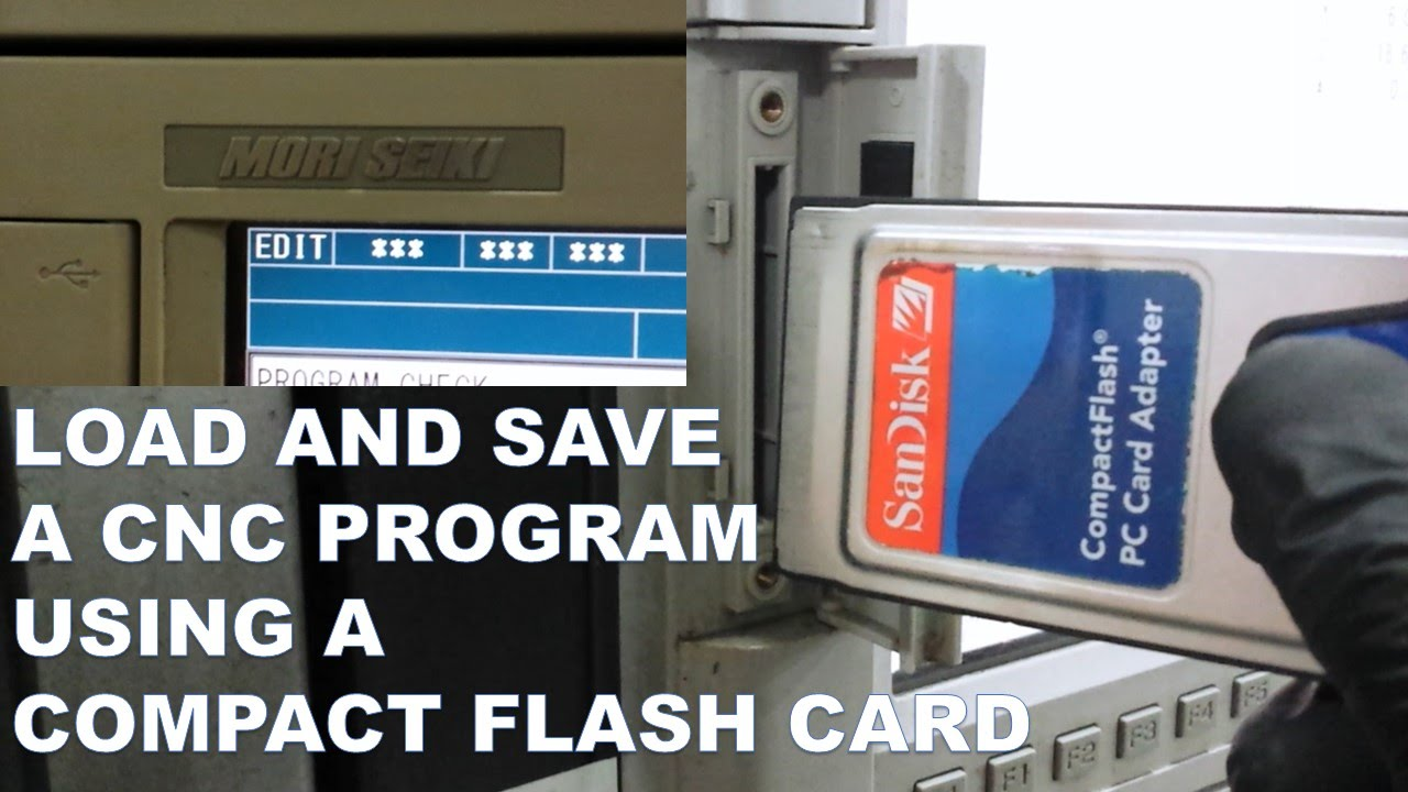 Load And Save A Cnc Program Using Compact Flash Card Youtube Mazak Mate Lathe Wiring Schematic