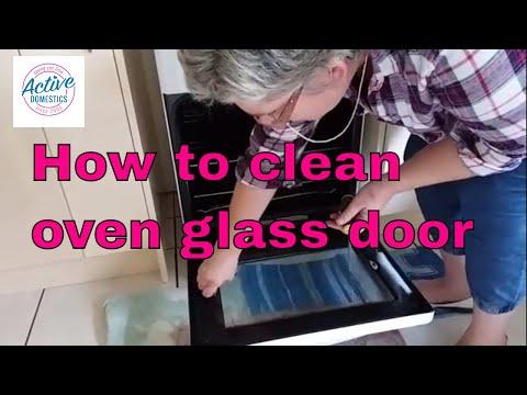 How to clean oven glass door?