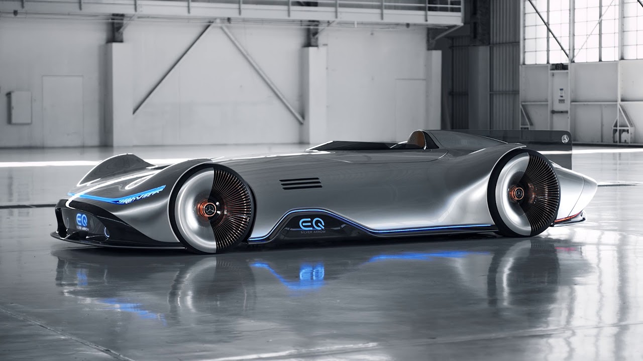 Mercedes Benz Eq Vision Silver Arrow