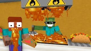 Monster School WORK AT TACO PLACE Minecraft Animation