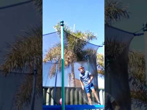 Epic Water Balloons on Trampoline