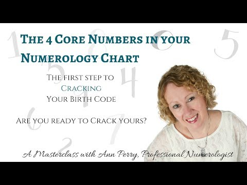 The 4 Core Numbers in Your Numerology Chart