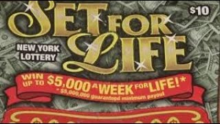 Winner! 3 $10 SET FOR LIFE WHITE LINE NEW YORK LOTTERY INSTANT WIN SCRATCH OFF TICKETS.  SINGLE WIN!