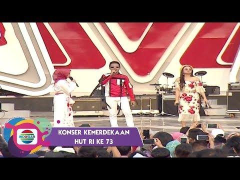 KOMPAK! Nabila, Fildan, dan Aulia menyanyikan Lagu Aduhai di Konser Kemerdekaan HUT RI Ke 73