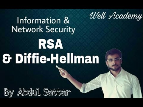 Information & Network Security Lecture -- RSA and Diffie Hellman (Eng-Hindi)