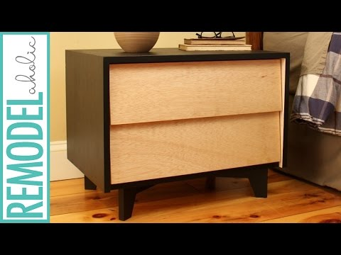 build drawers diy mid century modern nightstand build with diy drawer slides