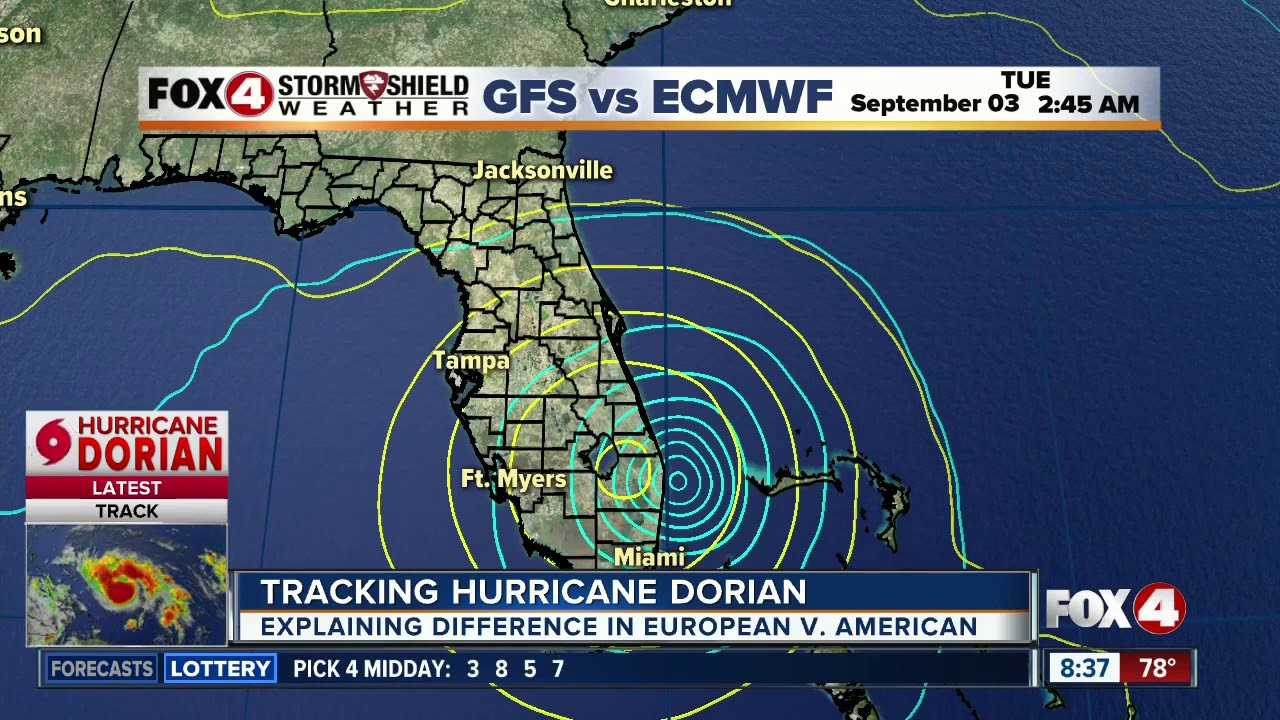Forecast Models Starting To Agree On Path Of Hurricane Dorian Youtube