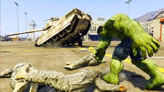GTA 5 Mods - INCREDIBLE HULK MOD! HULK VS MILITARY BASE! (GTA 5 Mod Gameplay)