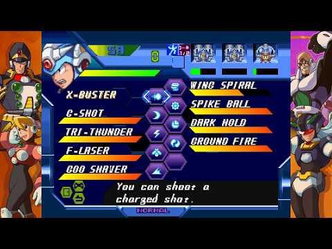 Mega man X Legacy Collection - X5 Gaea Armor Foot Part (without Falcon Armor & Zero) - flying trick |