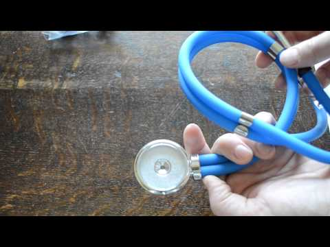 Stethoscope Blue tube Sprague Rappaport demonstration