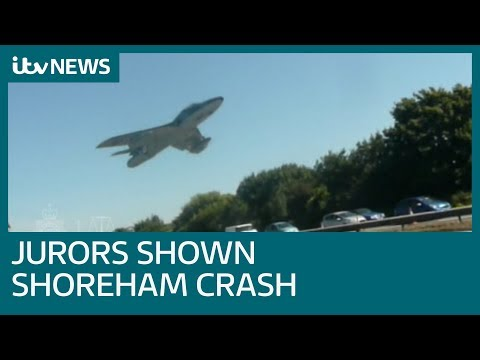 Jurors shown footage of Shoreham Airshow crash | ITV News