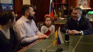 Встреча Алексея Орлова с участниками фильма «Небесный верблюд»