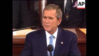 President George W. Bush addresses a Joint Congress about the War on Terror