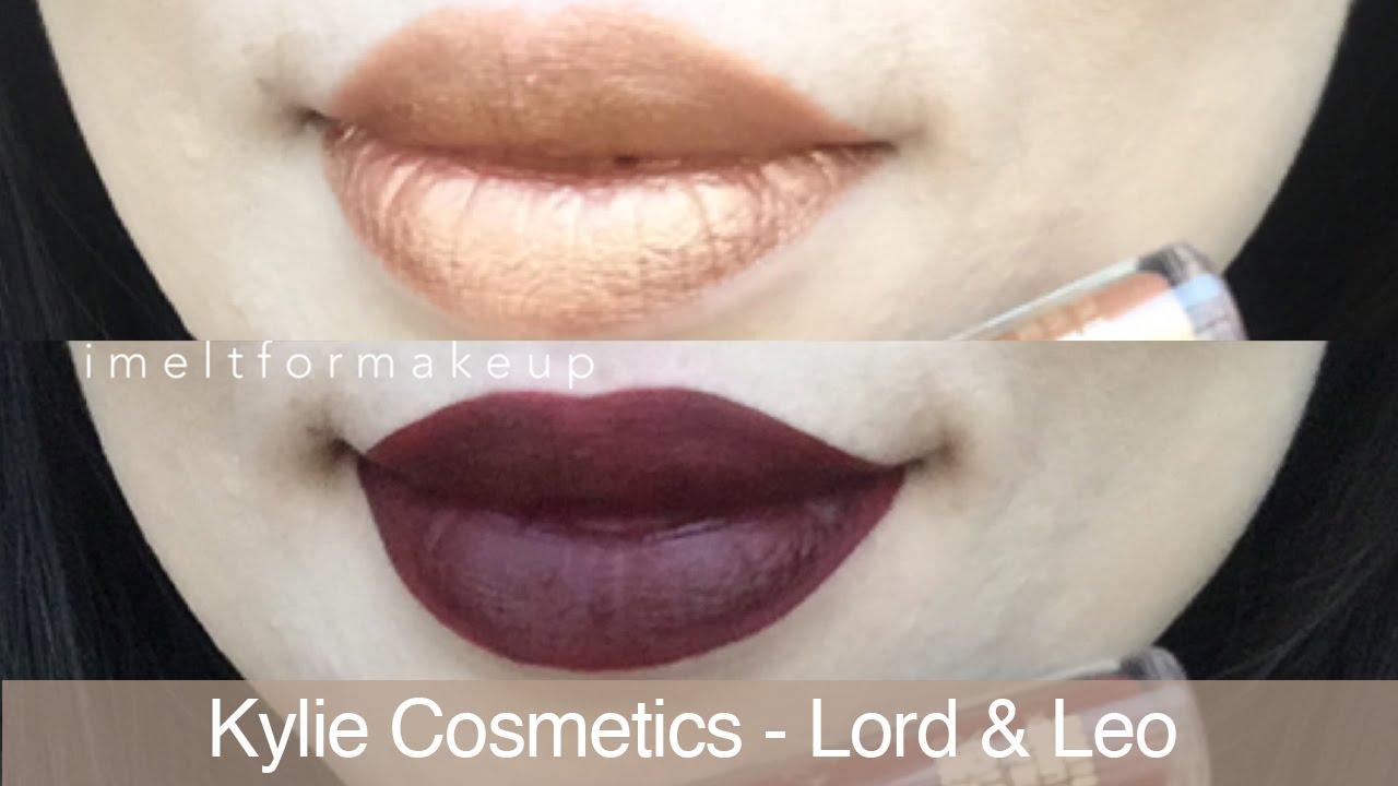 Bevorzugt Kylie Jenner Cosmetics Leo Liquid Lipstick Lip Swatch & Lord Lip  NH77