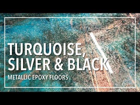 BRIGHT & BOLD Metallic Epoxy Floor