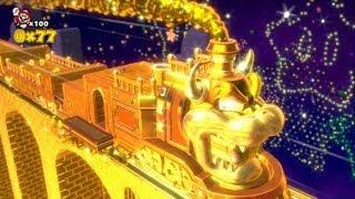 Super Mario 3D World 100% Walkthrough - World 5 Gold Train Bonus Level