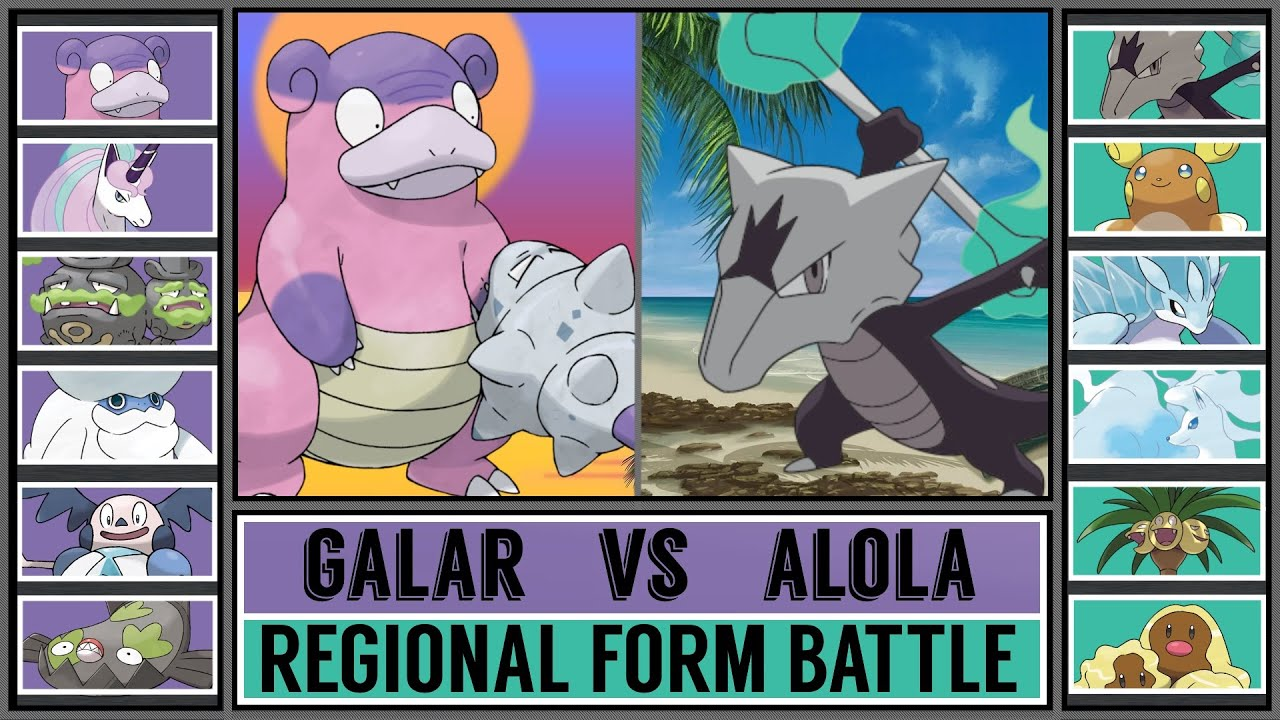 Regional Form Battle: GALAR vs ALOLA