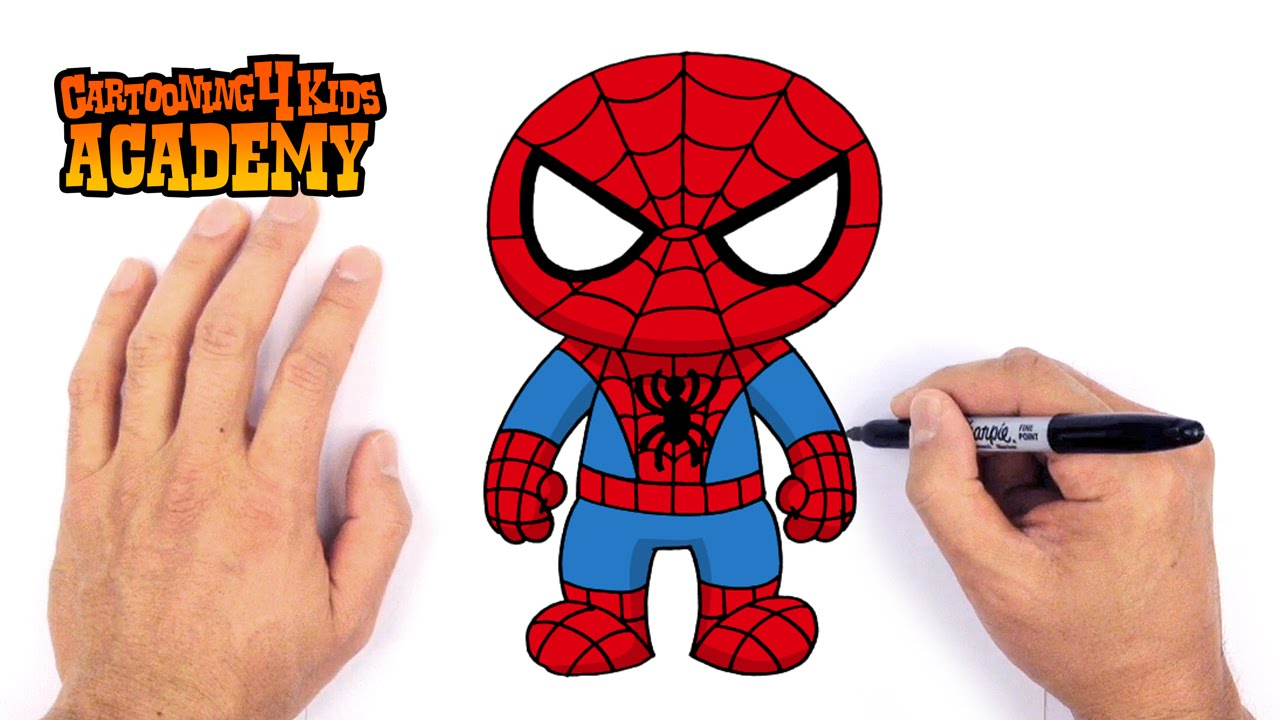 How To Draw Spiderman Art For Beginners Youtube