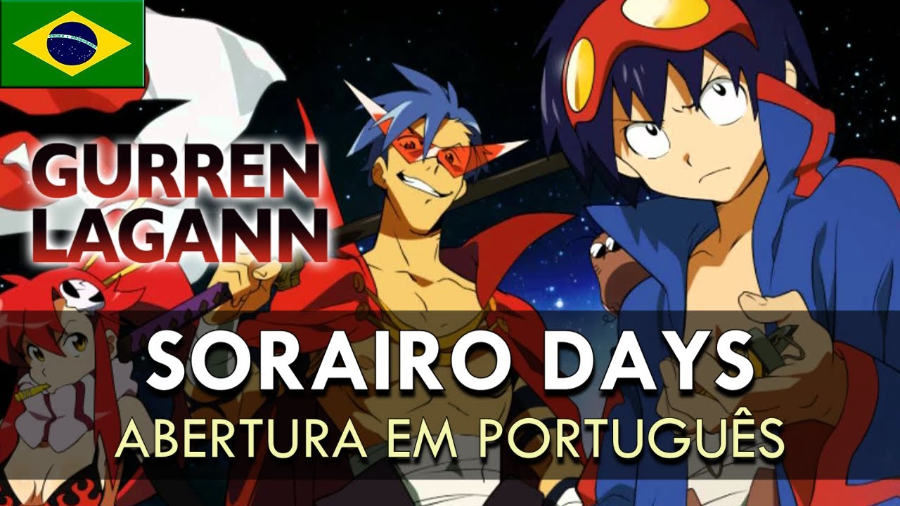 TENGEN TOPPA GURREN LAGANN - Abertura em Português (Sorairo Days) || MigMusic