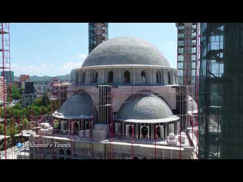 Xhamia e re e Namazgjase ne Tirane (pamjet me dron)