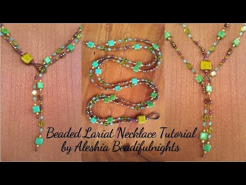 Beaded Lariat Necklace Tutorial