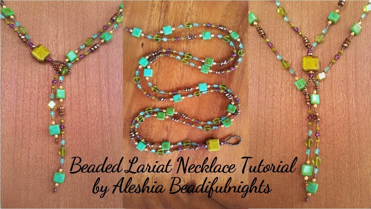 Beaded Lariat Necklace Tutorial You