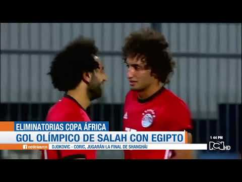 Mohamed Salah marca gol olímpico con Egipto