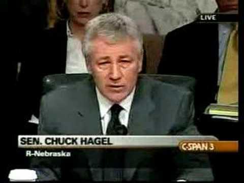 Chuck Hagel mentions Palestinians