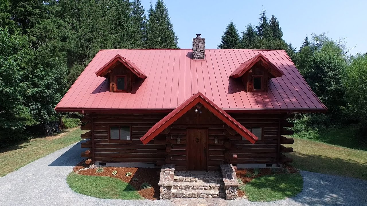 Luxury log cabin youtube for Luxury log home pictures