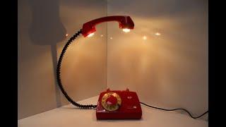 Крутая ИДЕЯ!!! Как из старого телефона сделать дизайнерский светильник.