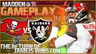 Madden nfl 16 gameplay & commentary -  bucs vs raiders | the return of jameis winston