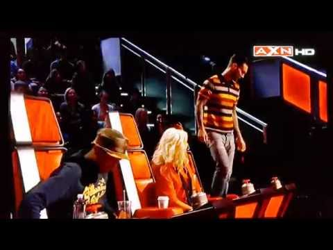 The Voice S8 - Funny Adam Destroyed Blake's Chair And Gets Instant Karma!