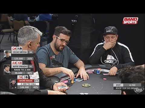 Poker Night 25/04/2018 - BSOP 2018 - Etapa 2 Brasília - Top do Brasil