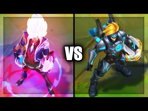 Legendary Battle Academia Ezreal vs Ultimate Pulsefire Ezreal Skins Comparison League of Legends