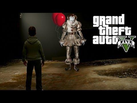 GTA 5 MOD VITA REALE DA BAMBINO #17 - IT IL CLOWN DI PENNYWISE CONTRO RONALDO JR E I SUOI AMICI!!