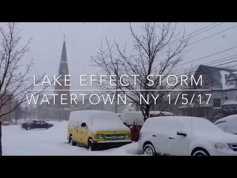Lake Effect Storm, Watertown NY 1/5/17