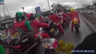 Santa on a bike Bristol run to Childrens Hospice South West - One Bike - One man in Somerset