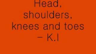 Head, shoulders, knees and toes - lyrics (: x