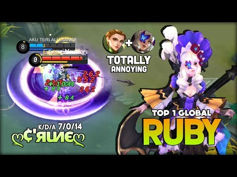 Immortal Ruby with Perfect Damage Build! ღ¢'яιиєღ Top 1 Global Ruby ~ Mobile Legends