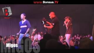 Migos and davido Perform at the Beats Music Concert