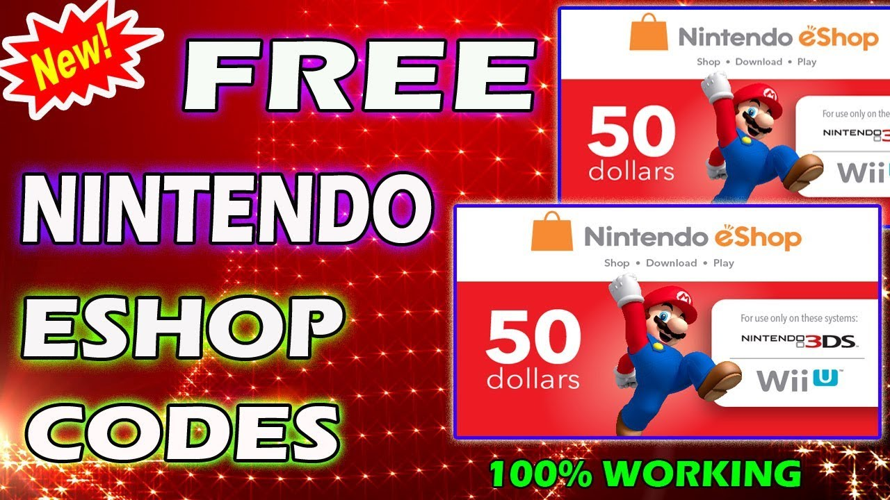 Proof ] how to get <b>free</b> nintendo eshop <b>codes</b> or nintendo <b>switch</b> ...