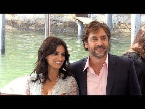 Penelope Cruz and Javier Bardem arriving at Loving Pablo press conference at 2017 Venice Film Festiv